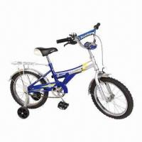 China Good-quality Blue Children's Bicycle, Rear Coaster Brake, Training Wheels, Bell, Good Design on sale