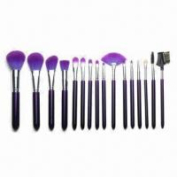 China 16-piece Synthetic Hair Cosmetic Brush Set, Available in Assorted Colors on sale