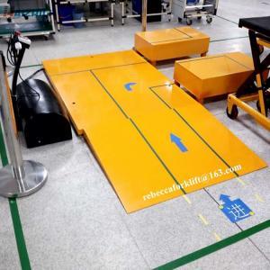China Heavy duty design low-type 1000kg mini electric scissor lift table on sale