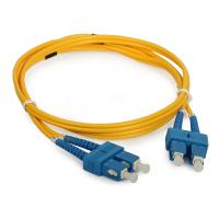 Telecommunication SC Duplex fiber optical patch cord with UPC / APC Polishing