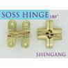 Buy cheap Satin Brass Soss Stainless Steel Concealed Hinges , Wings measure 3/8