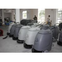 Electronic Walk Behind Automatic Scrubber Floor Machine With 17 Inch Single Brush Manufactures