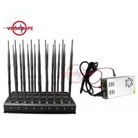 All In One Mobile Phone Signal Jammer , Full Band Cell Phone Jamming Device 25M Radius Manufactures