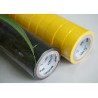 High Strength Yellow / Black PVC Electrical Tape Flame Retardant 0.13MM Thickness Manufactures