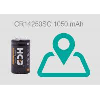 1050 MAh 1mA Lithium Primary Battery , Lithium Manganese Dioxide Battery For GPS Manufactures