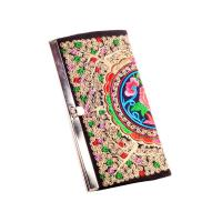 Quality ethnic colorful butterfly silk metal close eadge coin purse clutch girls purse for sale