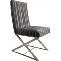 Modern Metal Fabric Dining Chair, Black Leather Dining Room Furniture Manufactures