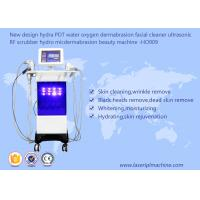 China Hydra PDT Ultrasonic Scrubber RF Beauty Machine Water Oxygen Dermabrasion Facial Cleaner on sale
