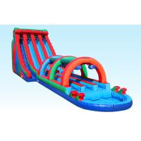 China 3 Lane Giant Inflatable Water Slides 24FT Triple Lane Threat With Satety Arch on sale