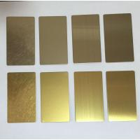 Stainless steel 304 in PVD bronze HL for lift cladding  Sheet Size : 1219mmX3000mmX1.5mm Manufactures