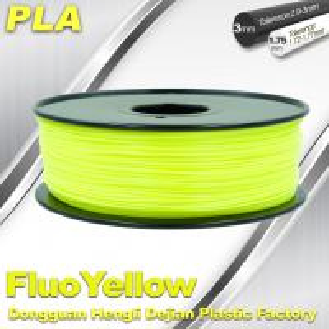 PLA Fluo-Yellow 3D Printer Fluorescent Filament  Materials 1.75 / 3.0mm Manufactures