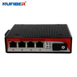 China 1000M Industrial Fiber Ethernet switch 4 Rj45+1x1000M Fiber port SM Bidi SC 20km 1310nm/1550nm with Din-rail wall mount on sale