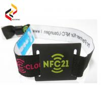 Cheap programmable long reading distance UHF RFID/NFC NTAG213 Fabric wristband/ bracelet Manufactures