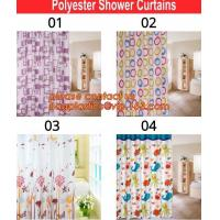 bath mats sets shower curtains, POLYESTER BATHROOM CURTAIN, HOTEL SHOWER CURTAIN, PEVA bath curtain, polyester cotton fa Manufactures