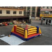 Indoor Playground Kids Inflatable Sports Games / Inflatable Boxing Ring Manufactures