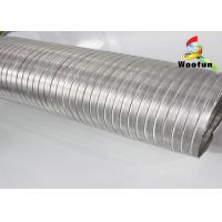 Hydroponic Semi Rigid Ducting Aluminum Fire Proof 0.1mm Thickness Manufactures