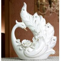 China Ceramic Gift Swan Ornaments Crafts Home Decor on sale