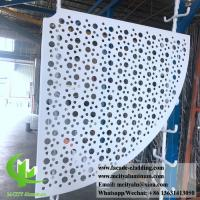 China Sector Shape Metal Sheet Aluminum Panel 3mm PVDF Paint Finish ISO9000 Listed on sale