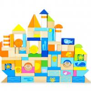 Best Ocean Animal Blocks Educational Designed Drums Beech Children Wooden Building Blocks Manufactures