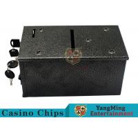 Black Color Smart Casino Drop Box Suitable For Texas Holdem Gambling Games Manufactures