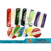 Casino Style Numbered Poker Chip Set Bright Color With Customized Print Logo Manufactures