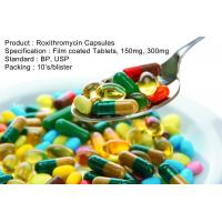 Roxithromycin Capsules Film coated Tablets, 150mg, 300mg Oral Medications Antibiotics Manufactures