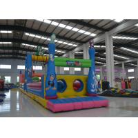 China Giant  4 In 1 Bugs Bunny Moonwalk Obstacle Course , Customized Inflatable Water Obstacle Course on sale