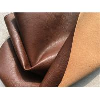 Sofa Genuine Recycled Leather Upholstery Fabric With PU Coating Surface