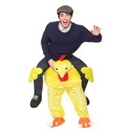 Polyester / Spandex Halloween Man Riding Chicken Costume With Embroidery Logo Manufactures