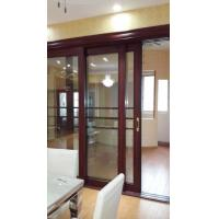 China Living Room Wood Aluminium Interior Sliding Doors Double Tempered Glass With Louver on sale