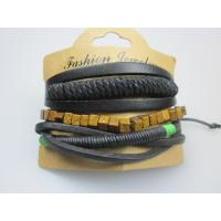 Braid Polyester Cord Leather Bracelet In YiWu Purchase Fashion Jewelry Manufactures
