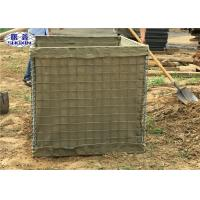 Galvanized Defensive Bastion Wall , Welded Gabion Bastion Blast Wall Manufactures