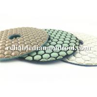 China Custom Abrasive Diamond Floor Polishing Pads , Durable Dry Diamond Hand Polishing Pads on sale