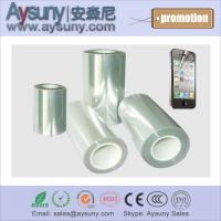 Extra-transparent Self-adhesive removable PET protective film roll screen protector Manufactures