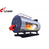 Horziontal Industrial Natural Gas Hot Water Boiler 0.35MW - 7MW Rated Power Manufactures