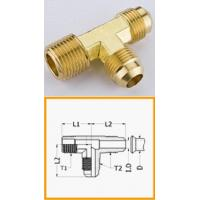 Buy cheap Industrial Male Hose Barb Brass Pipe Fitting , T - Shape Lead Free Brass Flare Fittings from wholesalers