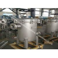 SS 304 Material Multi Bag Filter Housing Sanitary With 150PSI Working Pressure Manufactures