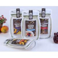 China Mason Bottle Shape Custom Snack Bags Recyclable Stand Up Plastic Food Bag on sale