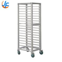 Quality Modern Baking Tray Trolley Stainless Steel Tray Rack Food Oven Trolley for sale