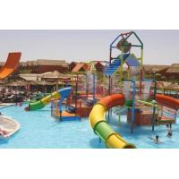 Small Colorful Water Playground Equipment Enclosed Slide For Kids And Water Park Manufactures