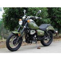 Army Green 250cc Bobber Chopper 90 Km / H Low Oil Consumption With 5 Manual Transmission Manufactures