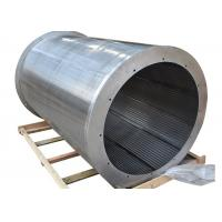 SS Inverted Wrapped V Wedge Wire Filter Mesh For Rotary Drum 0.05MM-50MM Slot Manufactures