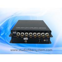 OEM 8CH AHD video fiber converter for remote HD CCTV surveillance Manufactures