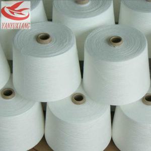 48/1 raw white polyester spun closed virgin yarn instock Manufactures