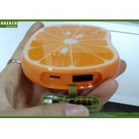 Portable Orange Shaped Cute USB Lithium Polymer Battery Power Bank For Mobile Phone Manufactures