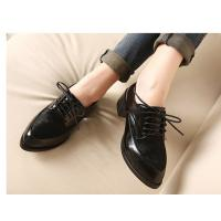 China LADIES' LEISURE ENGLAND STYLE LEATHER SHOES WITH STRING on sale