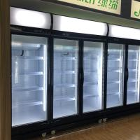 China SKD Glass Door Display Chiller Freezer With Curved LED Lighting Box on sale