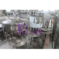 Non - Carbonated Drink Automatic Filling Machine 1200bph Rotary 3 In 1 Manufactures