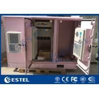 China Triple Bay Racking Outdoor Electronic Equipment Enclosures IP55 Air Conditioner Cooling on sale