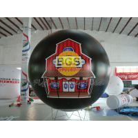 Black Waterproof inflatable advertising helium balloons with UV protected printing Manufactures
